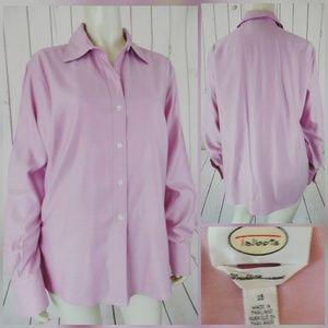 Talbots Blouse Shirt 16 Wrinkle Resistant Cotton